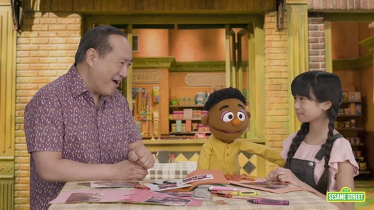 In a new video from 'Sesame Street, Alan and Wes comfort Analyn after she's teased about the shape o...
