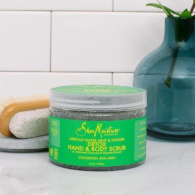 Shea Moisture African Water Mint & Ginger Detox Hand & Body Scrub