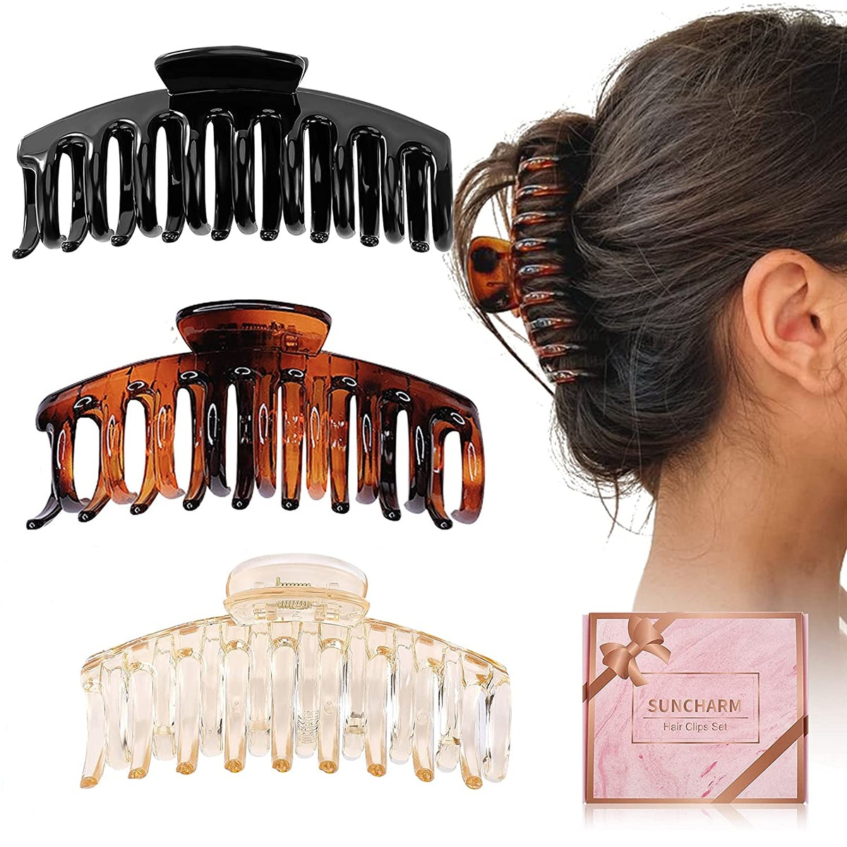 Hair Claw Clips (3 Pack)