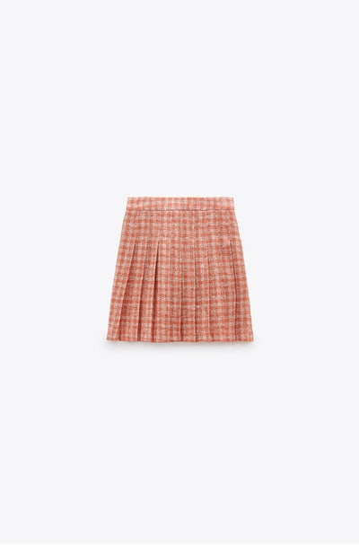 Pleated Structured Skirt