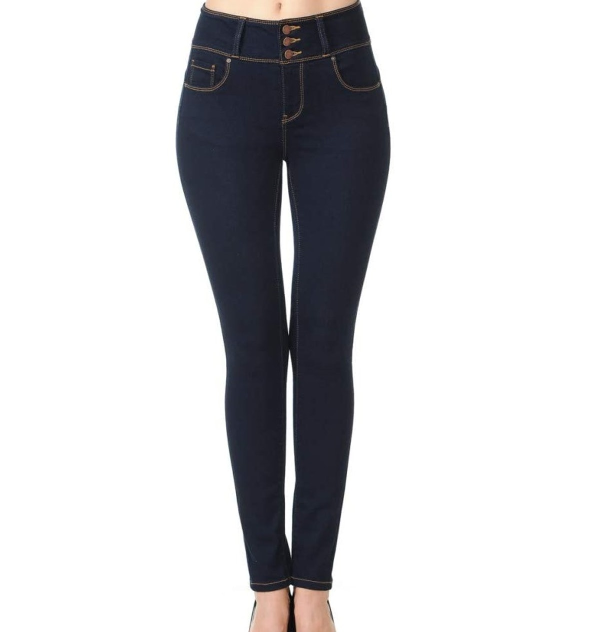 Wax 'Butt I Love You' High-Rise Button Jeans