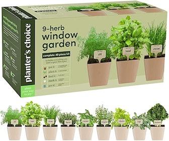 Planters' Choice 9-Herb Window Garden