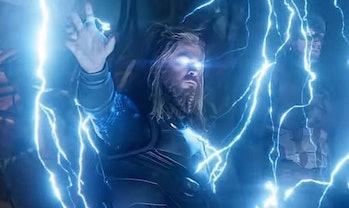 Avengers Endgame Thor Mjolnir Stormbreaker behind the scenes photo
