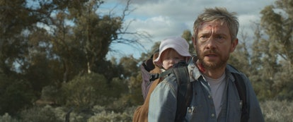 Star Martin Freeman appears in the apocalyptic thriller 'Cargo,' via the Netflix press site.