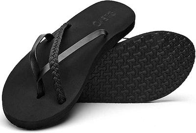 Qleyo Braided Thong Sandals