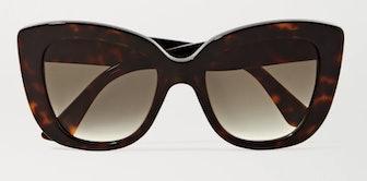 Havana Cat-Eye Tortoiseshell Acetate Sunglasses