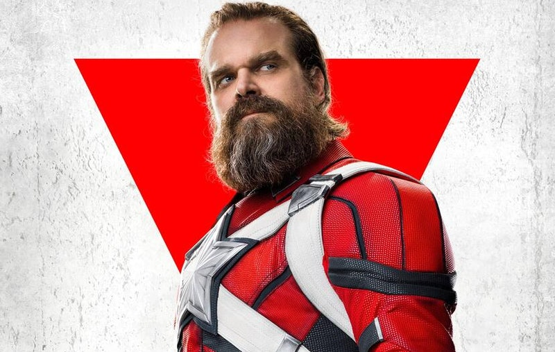David Harbour appears as Red Guardian in a character poster for Marvel's 'Black Widow.'