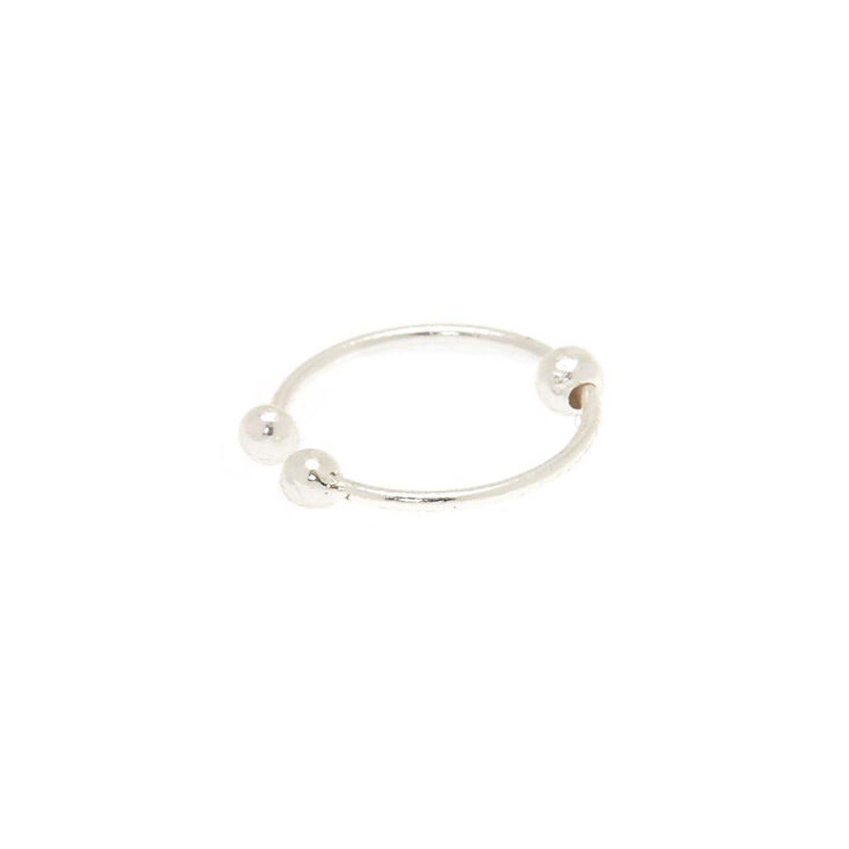 Sterling Silver Ball Faux Hoop Nose Ring