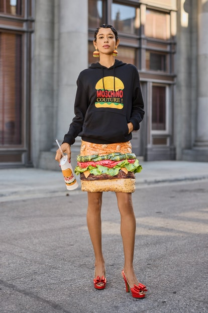 A look from Moschino's Resort 2022 collection.