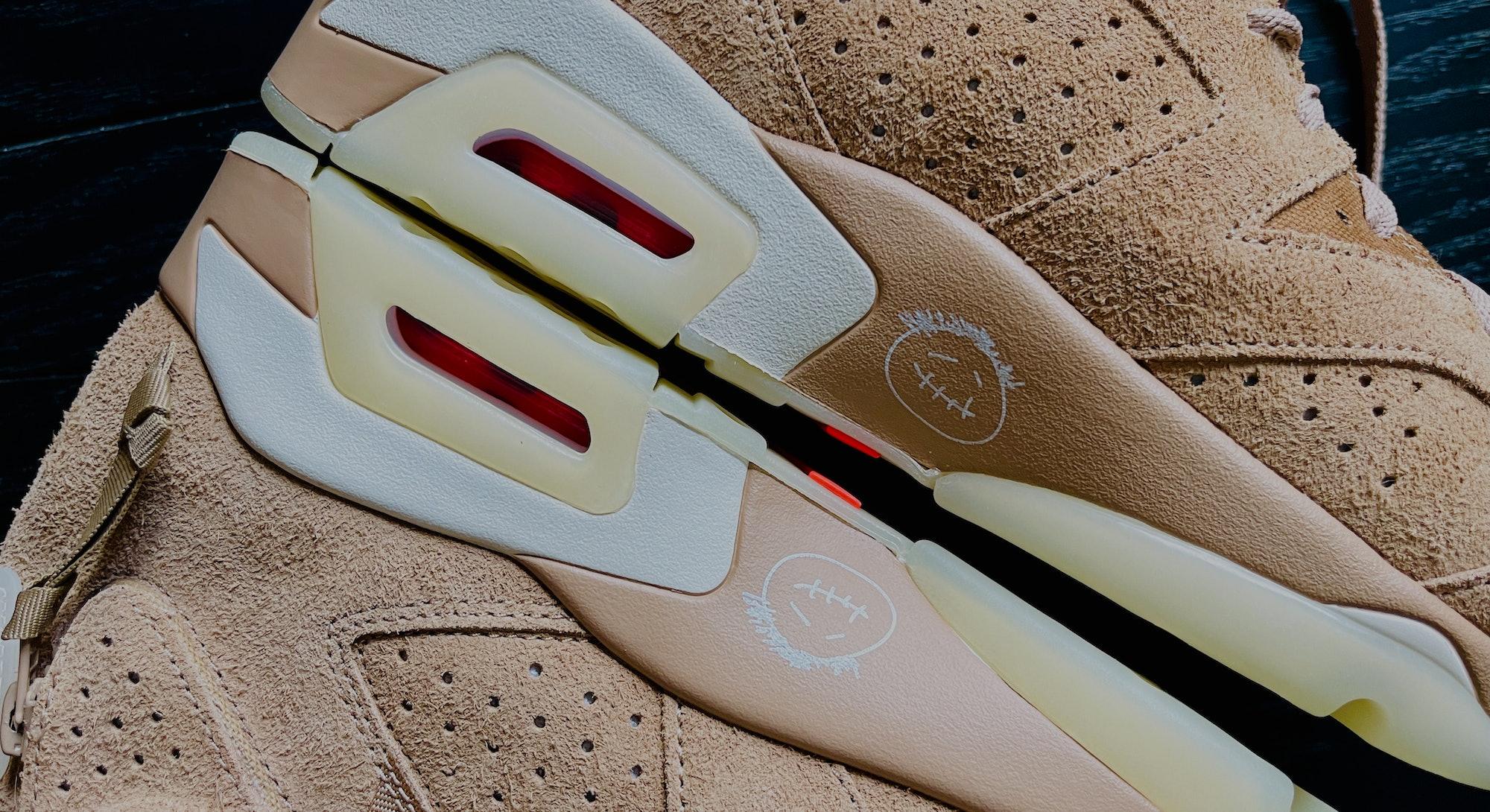 Travis Scott Air Jordan 6 British Khaki Nike sneakers shoes collaboration. Fashion. Shoes. Sneakers....