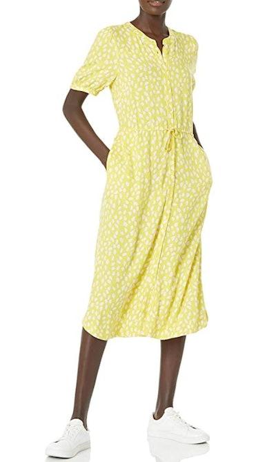Amazon Essentials Half Sleeve Waisted Midi A-line Dress