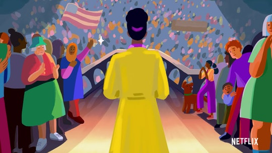 An animated depiction of Amanda Gorman speaking at the inauguration of President Joe Biden appears in the trailer for Netflix's 'We The People.'