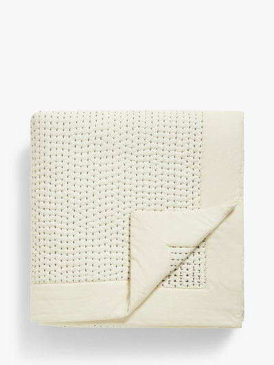 Mother of Pearl Abstract Spot Organic Cotton Throw