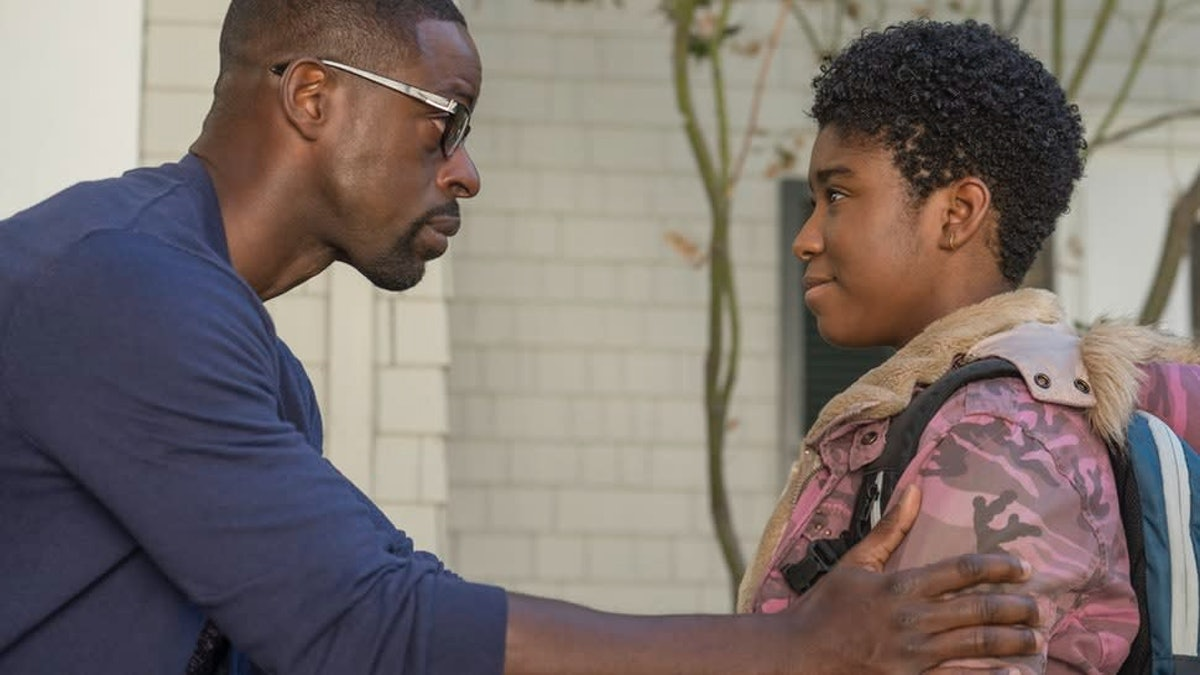 Randall Pearson (Sterling K. Brown) and his daughter Deja (Lyric Ross) on NBC's 'This Is Us' ahead of Father's Day 2021.
