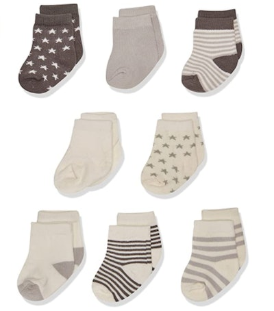Touched By Nature Baby Organic Cotton Socks (6-Pack)