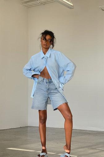 Nuria Oversized Blouse Blue