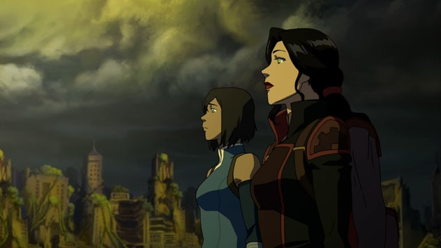 'Legend of Korra' ends with relation with two bisexual women.