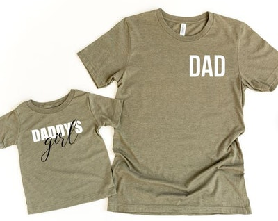 PenguinsPineapples Dad & Daddy's Girl Shirt Set