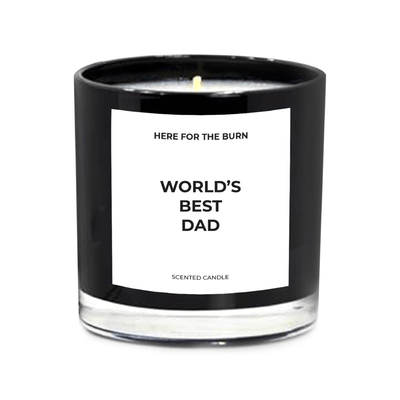 World's Best Dad Candle