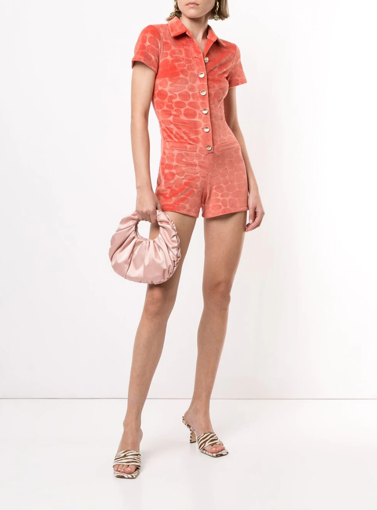 Pennie Abstract Print Romper