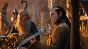Hugo Weaving and Ian McKellen in The Hobbit