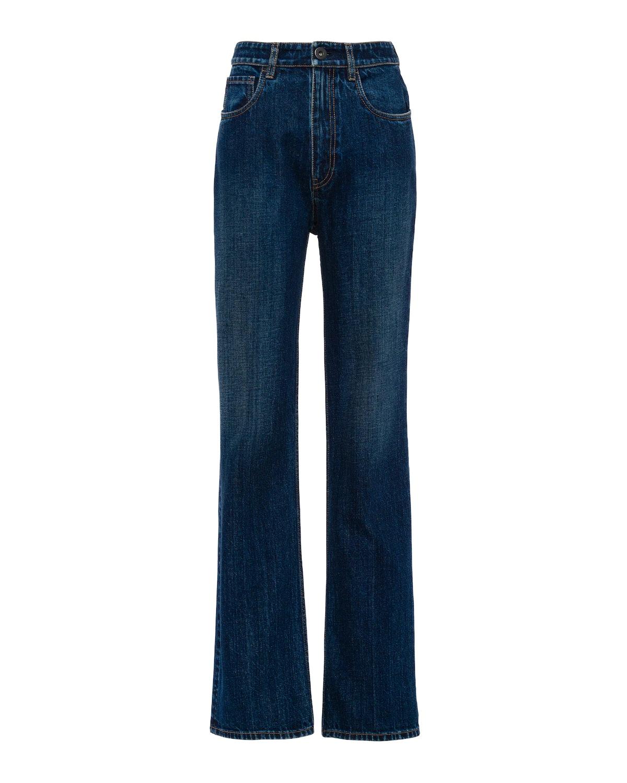 Indigo Denim Five-Pocket Jeans