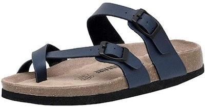 CUSHIONAIRE Luna Cork Comfort+ Sandal