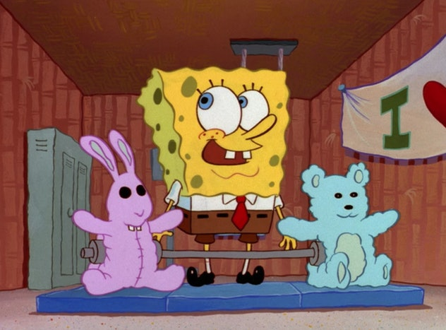 SpongeBob SquarePants is about a sponge who lives in a pineapple under the sea.