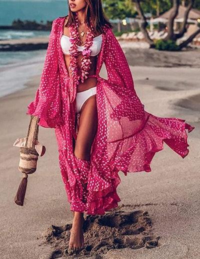 Bsubseach Chiffon/Rayon Long Bikini Cover Up