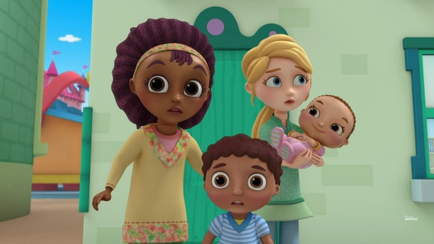 Lesbian moms on 'Doc McStuffins' are played by Wanda Sykes and Portia De Rossi.