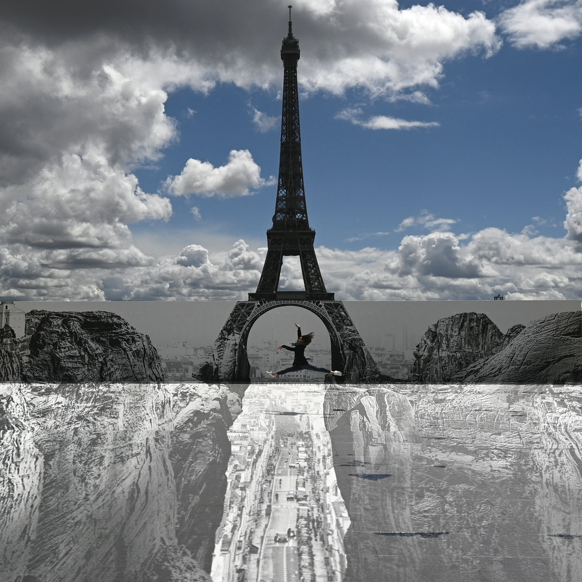 Eiffel Tower Grand Canyon Art