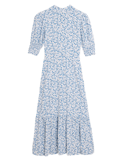 M&S X Ghost Ditsy Floral Puff Sleeve Midi Tea Dress