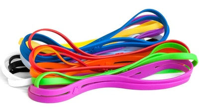 Grifiti 9-Inch Silicone Bands (20-Pack)