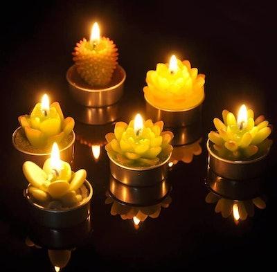 SanSeng Cactus Tea Light Candles (Set of 6)