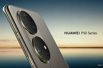 A tease of the Huawei P50 smartphone. Mobile. Phones. Camera. Design. Smartphones.