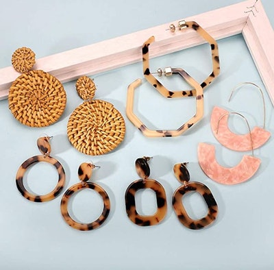 FIFATA Acrylic Earrings (9 Pairs)