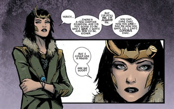Lady Loki leaks romance comics