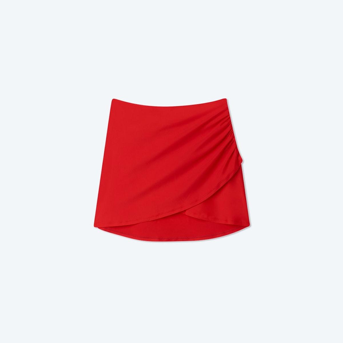 The Ruched Swim Skirt
