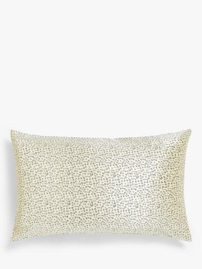 Mother of Pearl Spot Organic Silk Pillowcase, Cream Spot