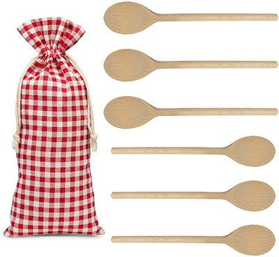 Kutuloo Wood Cooking Spoons (6-Pack)