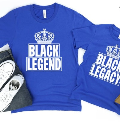 MelanatedMinds Black Legend & Black Legacy Shirt Set