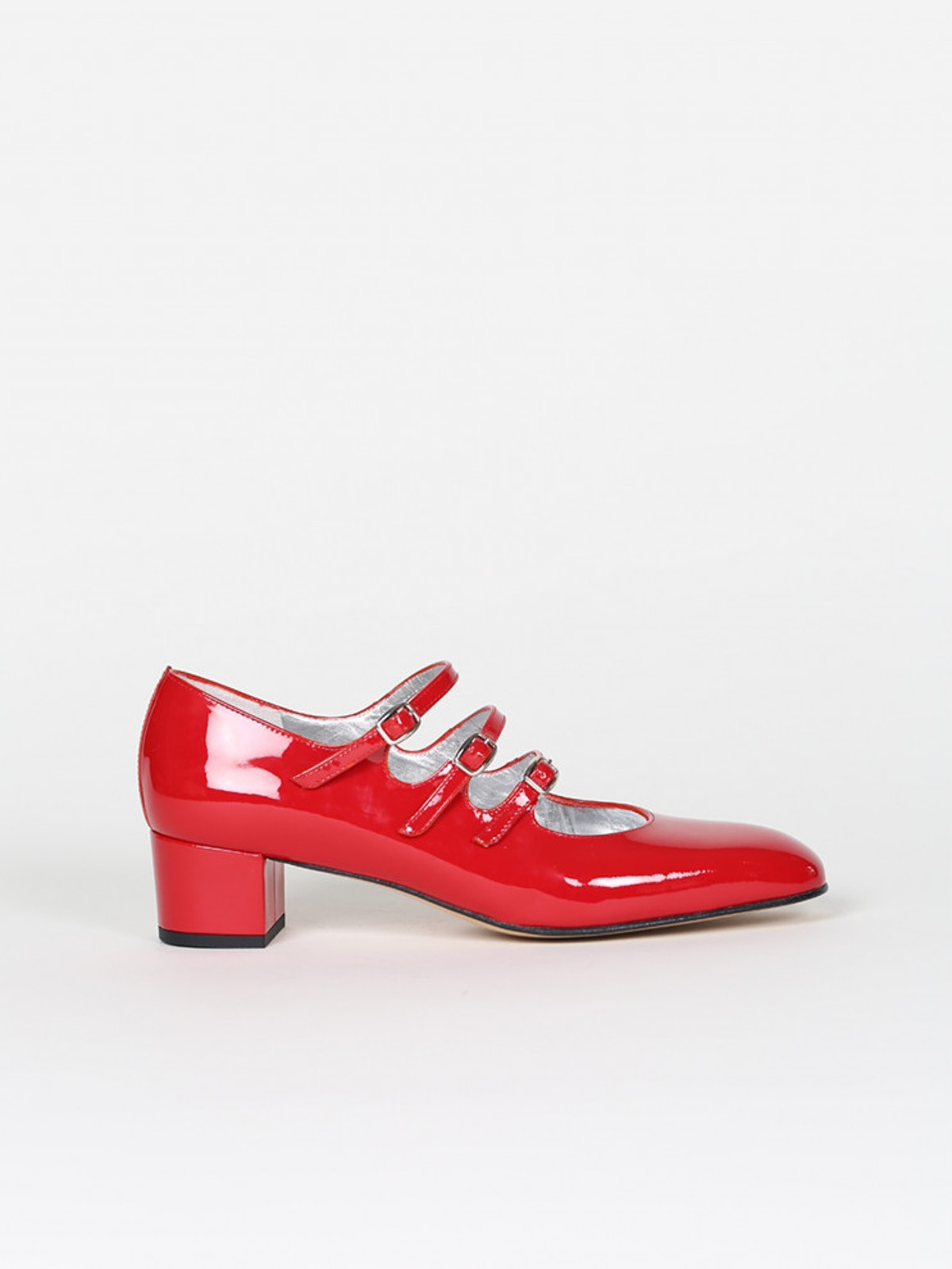 Kina Red Patent Leather Mary Janes