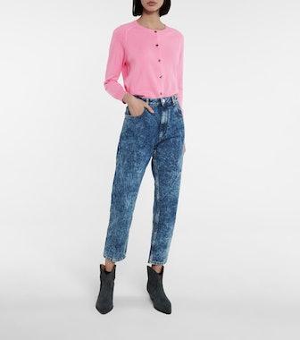 Neasr High-Rise Slim-Straight Jeans