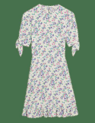 M&S X Ghost Floral Tie Sleeve Mini Tea Dress