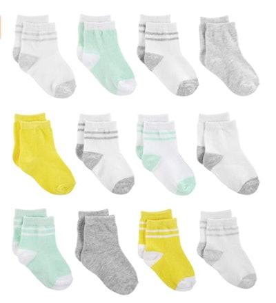 Simple Joys by Carter's Baby Unisex Socks (12-Pack)