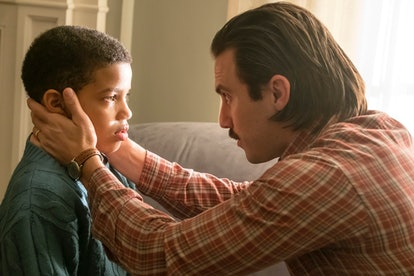 Jack Pearson (Milo Ventimiglia) and his son Randall (Lonnie Chavis) on 'This Is Us' ahead of Father'...
