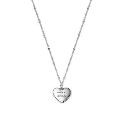 Equality Heart Silver Necklace