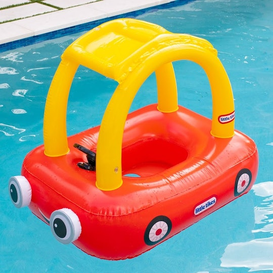 The Little Tykes Cozy Coupe pool float by PoolCandy is perfect for summer pool days.