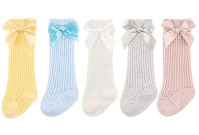 BQUBO Knee High Mesh Socks (5-Pack)