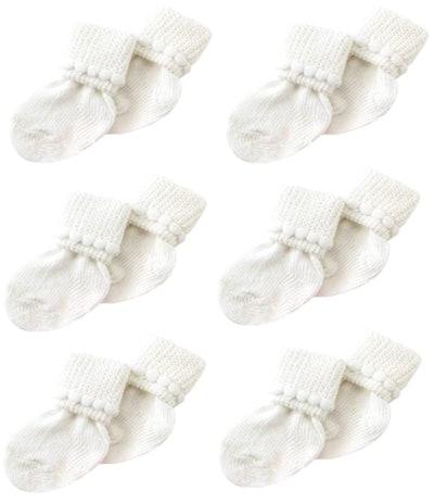 Nurses Choice Store Newborn Socks (6-Pack)